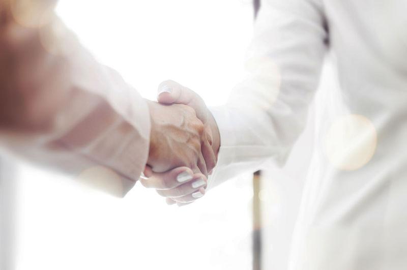 Businesswomen doing handshake