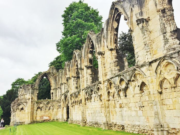 Ruins of an abbey in York Architecture Church England Old Ruin