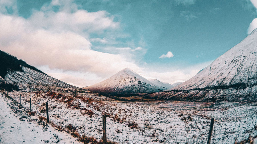 Scottish Highlands - February 2016 EyeEm EyeEm Best Edits EyeEm Nature Lover EyeEm Gallery EyeEmNewHere The Architect - 2017 EyeEm Awards The Great Outdoors - 2017 EyeEm Awards The Week On EyeEm Beauty In Nature Cloud - Sky Cold Temperature Day Landscape Mountain Nature No People Outdoors Scenics Sky Snow Snowcapped Mountain This Week On Eyeem Tranquil Scene Tranquility Winter Your Ticket To Europe The Week On EyeEm