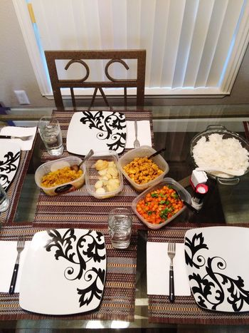 My Indian cooking Indian Food 2018 Pretty Things I Like Food Food And Drink Table Indoors  Ready-to-eat Freshness Plate Meal No People Wellbeing High Angle View Healthy Eating Serving Size Indulgence Still Life Home Interior Bowl Variation Furniture Pattern