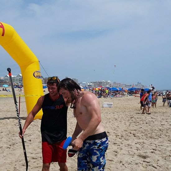 SUP 2nd heat winners.. Check out PaddleGuru.com for a list of all the winners.... Oceangames Oceancitycool OceanCity Maryland ocmd oceangames2015