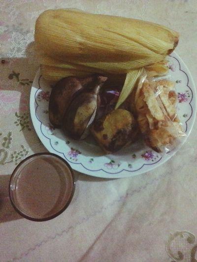 Indonesian traditional food & drink (ubi rebus,jagung rebus,pisang rebus,keripik singkong & bajigur) Check This Out Hello World
