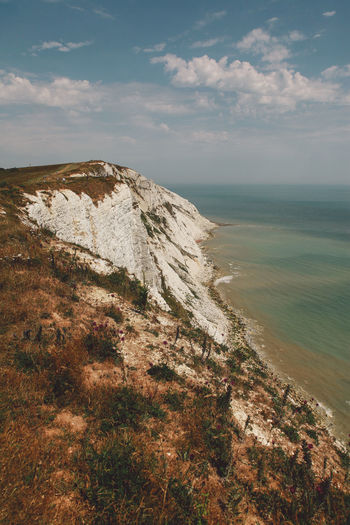 Beachy Head Beachyhead Blue Wave Cliff Cloud Cloud - Sky Coastline Geology Holiday Horizon Over Water Idyllic Nature Remote Rock Rock - Object Rock Formation Scenics Sea Shore Summer Tranquil Scene The Great Outdoors With Adobe Travel Water The Great Outdoors - 2016 EyeEm Awards