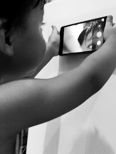 Baby on camera