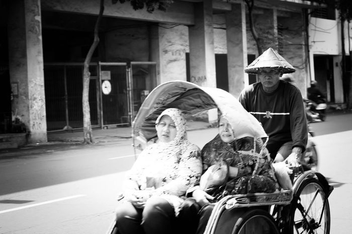Blackandwhite Black & White Blackandwhite Photography Photography Traditional Transportation Becak City Life EyeEm Selects Streetphotography Photo Picoftheday Image