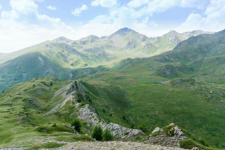Rifugio Fallère in lontananza O Mountains Aostavalley Hiking Trekking Panorama Alps Green Rifugio