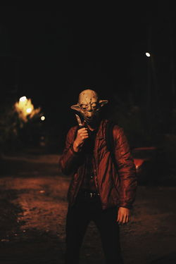 One Person Adults Only One Man Only Adult Only Men Spooky People Front View Night Portrait Looking At Camera Evil Young Adult Halloween Outdoors Russia VSCO нож Ночь