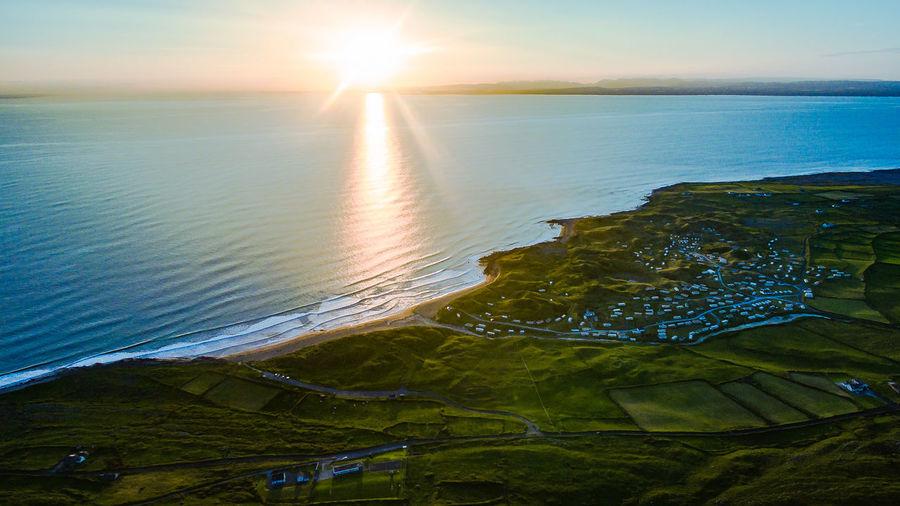 DJI Phantom 3 Advanced Ireland Ireland Landscapes Beach Beauty In Nature Day Dji Horizon Over Water Landscape Landscape_photography Nature No People Outdoors Scenics Sea Sky Sun Sunlight Sunset Tranquil Scene Tranquility Water