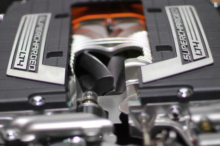 American Corvette Car Chevrolet Close-up Corvette Z06 Lt4 Supercharger V8 Supercharger
