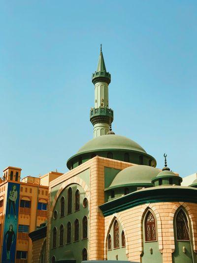 A green mosque