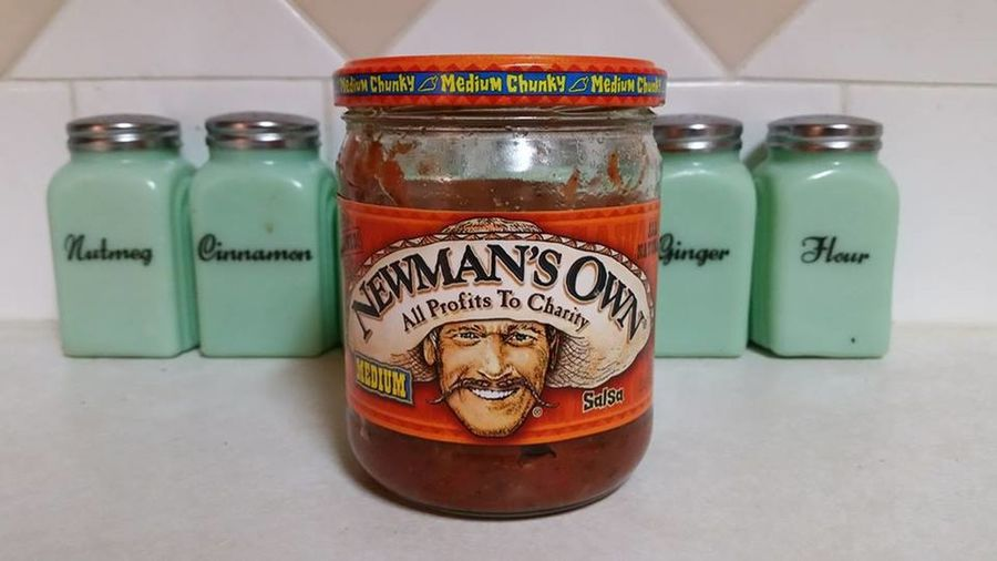 Bottle Charity Close-up Indoors  Jar Newman's Own No People Salsa Spicy Food
