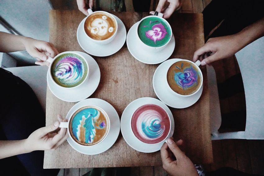 Gathering🌈💖 Cafe Coffee Fashion Torontophotographer Toronto Lifestyles Canada Food And Drink Drink Food Human Body Part Human Hand Hand Table