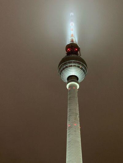 Mystische Stimmung am Fernsehturm Nebel Fog Berlin Fernsehturm Mystical Architecture Communication Tower Building Exterior Travel Destinations Built Structure Tall - High