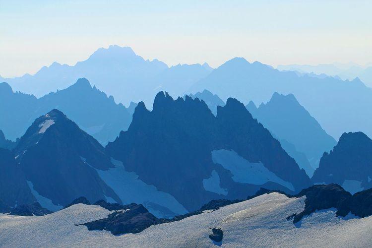 Mountain Range Snow Mountain Landscape Mountain Range