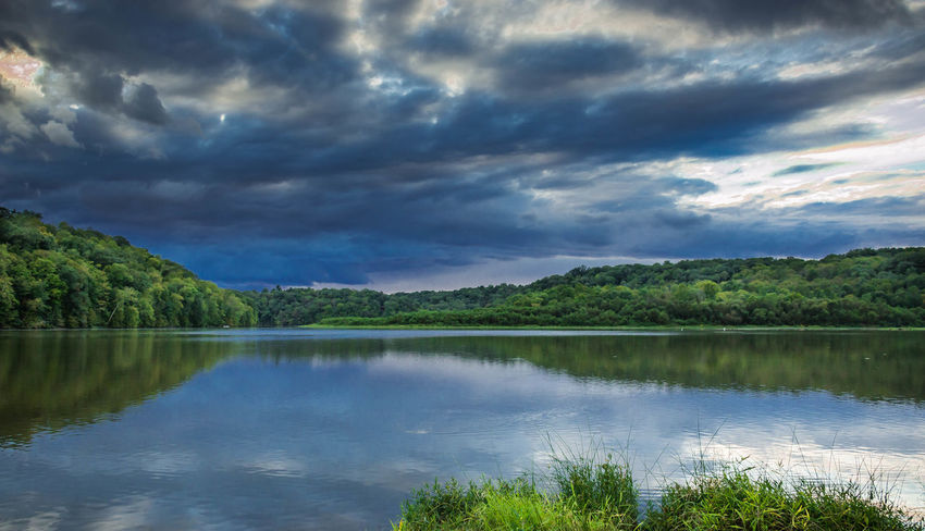 Ominous Beauty In Nature Cloud Cloud - Sky Cloudy Countryside Lake Lakeshore Landscape Nature No People Outdoors Overcast Reflection Sky Tree Versailles State Park Water Weather