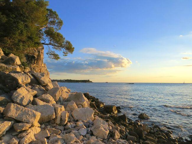 The KIOMI Collection Heaven Sunset Croatia Istria Crveniotok Rovinj Rocks Nature Mediterraneansea Rovinj2016Colorfullcroatia Blue Wave Rocks And Water Croatia_photography