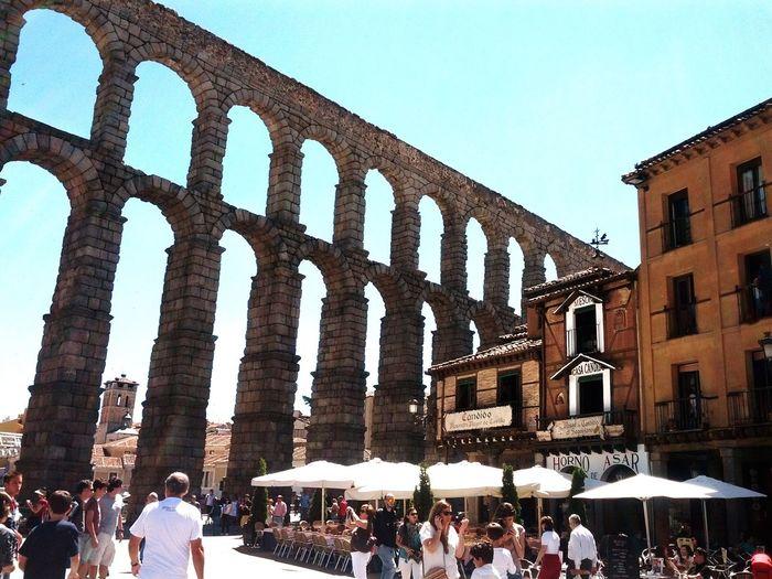Segovia,Spain Architecture Ancient Civilization Built Structure Real People Travel Destinations History Architectural Column Tourism Architecture Clear Sky My Best Travel Photo