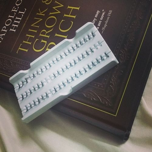 These are my deadly weapons. Lashes Book Napoleonhill Thinkandgrowrich individuallashes
