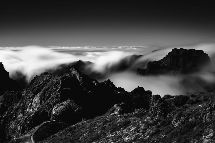 above the clouds Copy Space Madeira Madeira Island Beauty In Nature Blurred Motion Cloud - Sky Day Flowing Land Long Exposure Motion Mountain Nature No People Non-urban Scene Outdoors Power In Nature Rock Rock - Object Scenics - Nature Sky Solid Tranquil Scene Tranquility Water