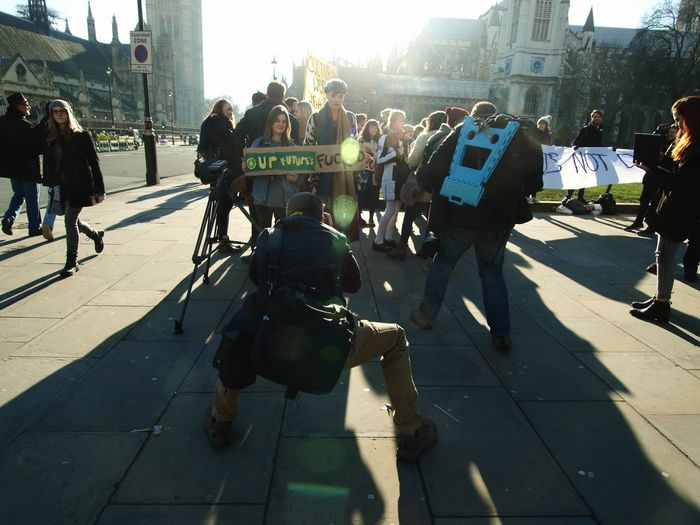 Photographer, Anti Austerity Protest, Patliament Green, London. 19-01-2016 News Photography Photojournalism Photojournalist Press Photographer  Protest Parliament London Photography Politics Austerity Antiausterity Olympus E3 Britain Stevesevilempire Steve Merrick Uk Olympus Zuiko Press Photography