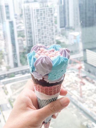 Unicorn ice cream 🦄 Icecream Sweet Ice Cream Cone Dessert