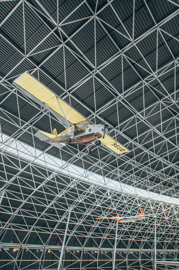 High angle view of yellow ceiling
