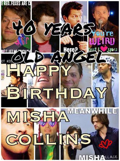 Happy Birthday Misha Collins Misha Collins Love Castiel