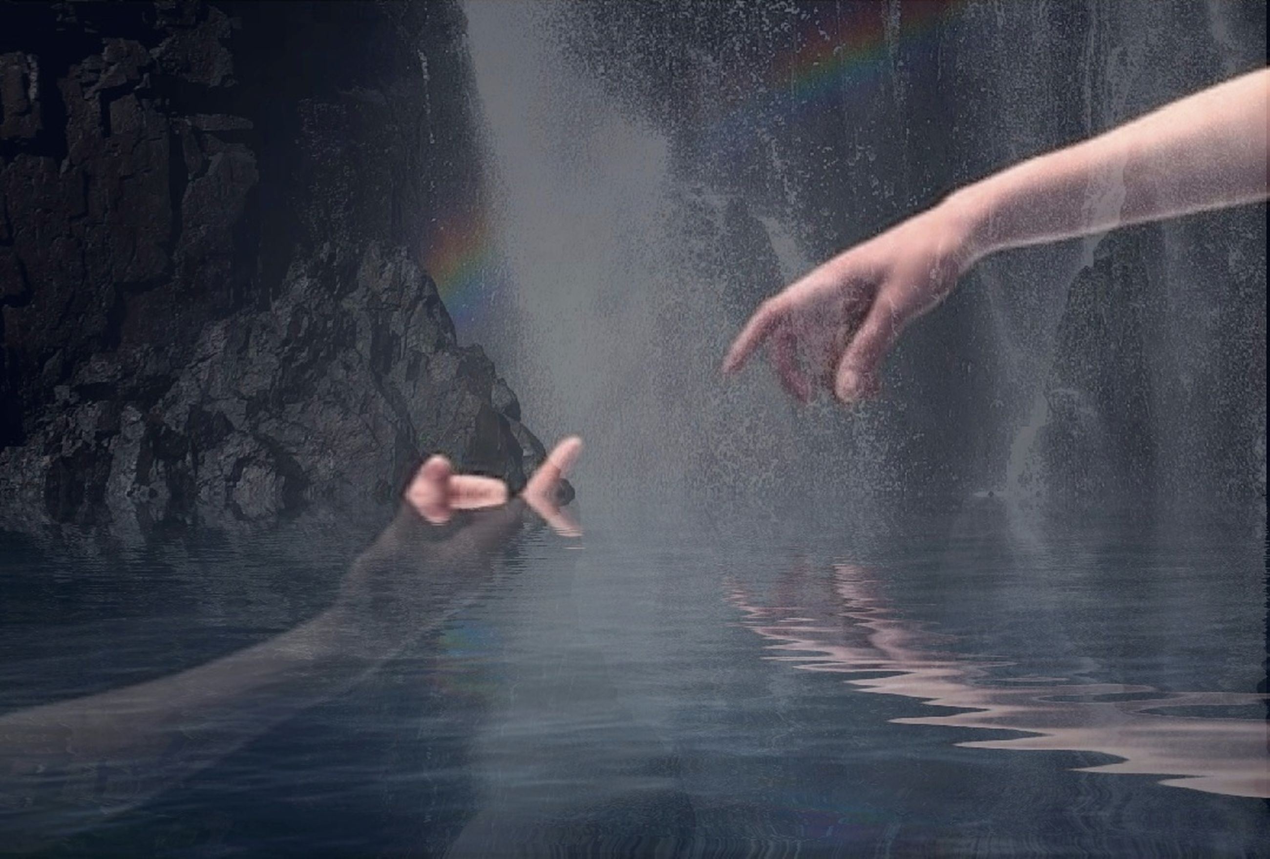 human body part, human hand, hand, water, two people, body part, people, motion, nature, togetherness, blurred motion, outdoors, emotion, sport, adult, positive emotion, day, touching, swimming, human limb, finger, effort