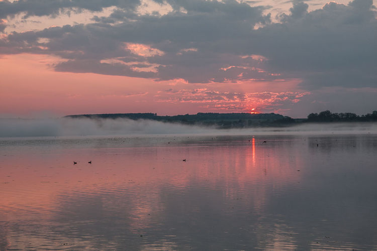 Federsee Beauty In Nature Day Lake Nature No People Outdoors Reflection Scenics Sky Sunset Tranquil Scene Tranquility Travel Destinations Water Waterfront