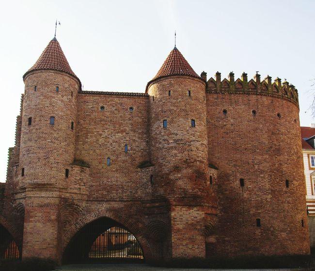 Warsaw Old Town Tower Bridge  Wall Barbacan