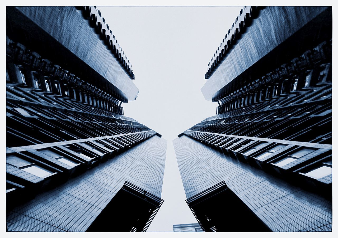 architecture, built structure, building exterior, modern, low angle view, tall, no people, growth, day, outdoors, city