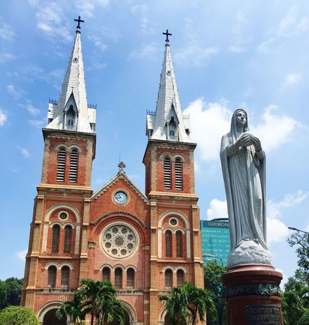 Notre Dame Cathedral Ho Chi Minh City Vietnam ImmaculateConception Sunday Mass Blessedsunday Weekend Getaway With Friends Taking Photos Enjoying Life