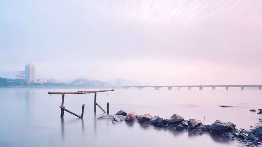 清晨,富春江。富阳,杭州 Bridge Long Exposure River Watercolor Check This Out Fog China Beautiful Day Good Morning