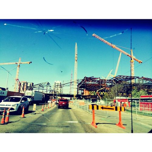 It looks like a City Playground LOL Beautiful Day In Edmonton New Rexallcenter being Built 👍