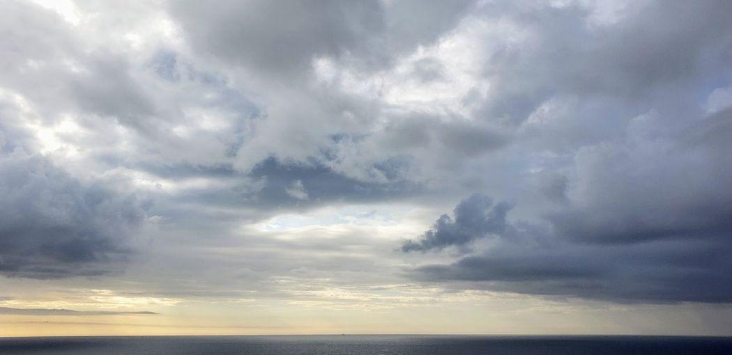 Water Thunderstorm Sea Storm Cloud Sunset Blue Sunlight Dramatic Sky Weather Sky