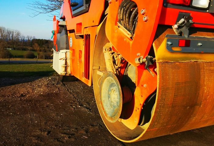 Orange By Motorola Under Construction... Muddy Eyem Best Shots Exploring New Ground Raupe  Bulldozer
