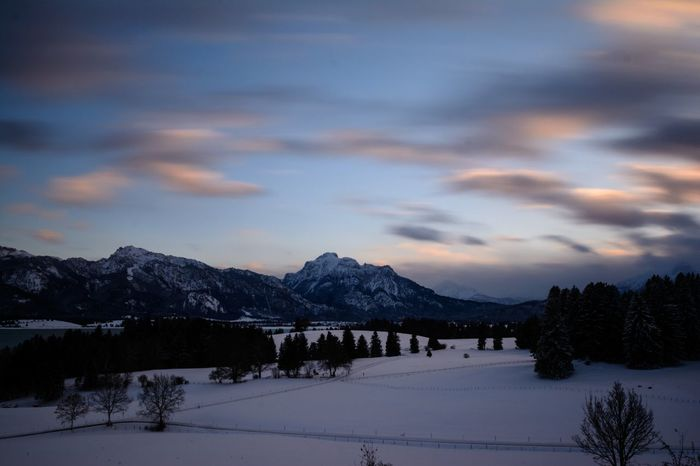 Allgäu, Bavaria, Germany Germany Alps German Alps Allgaeu Bavaria Bavarian Landscape German Winter Wonderland Allgäu Bavarian Alps Landscape Landscape_photography Long Exposure Longtimeexposure Longexposure Longexposurephotography Snow Mountain Winter Cloud - Sky Cold Temperature Landscape Tree No People Mountain Range Forest Sky