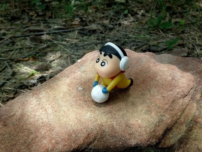 EyeEm Selects Toy No People Doll Day Rain Rainy Days Cartoon Rock - Object Rock Outdoors Doll