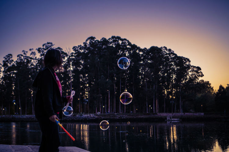 Bubbles Perspectives On Nature Feel The Moment Flying Flying Thoughts Nature Sky Sunset Women