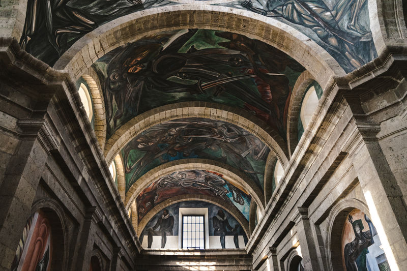 Architecture Day Guadalajara Indoors  Jose Clemente Orozco Low Angle View No People Travel Destinations UNESCO World Heritage Site