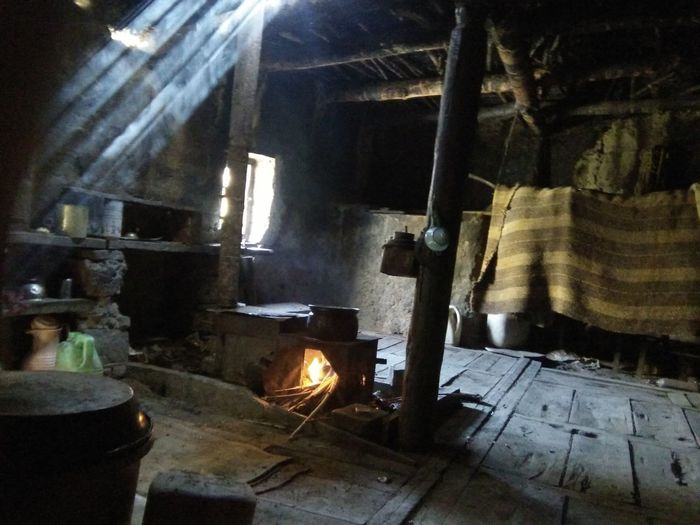 The ancient ladakhi kitchen Tranquility Beauty Of Ladakh Farmer Ancient Civilization Happiness