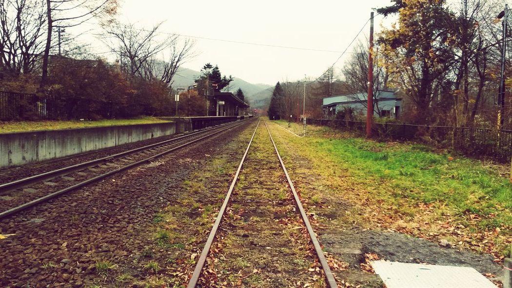 Hokkaido Japan Hokkaido,Japan Train Rail Railroad Railway Cloudy Quiet Staion