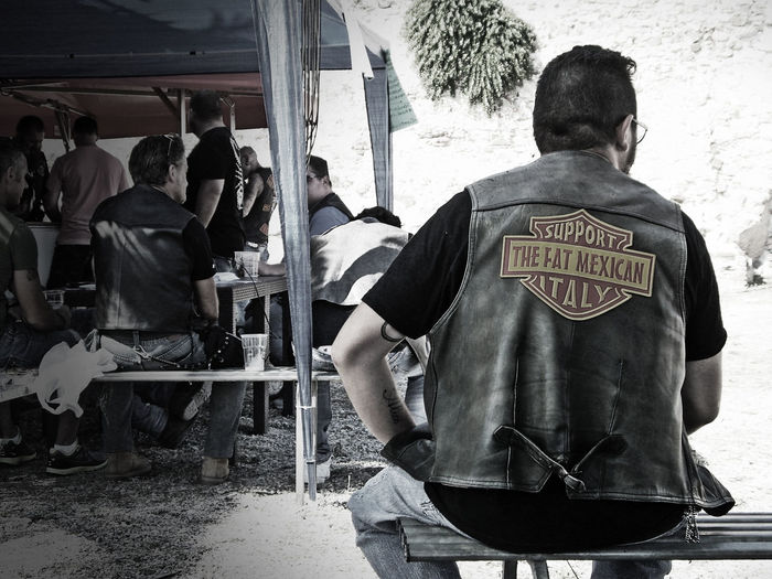 The Fat Mexican Support - Piombino, Italy Streetphotography Tuscany Biker Life Italy