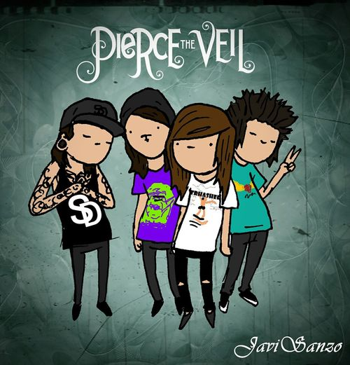 Pierce The Veil >>> Vic Fuentes , Mike Fuentes , Jaime Preciado , Tony Perry ♡ lml