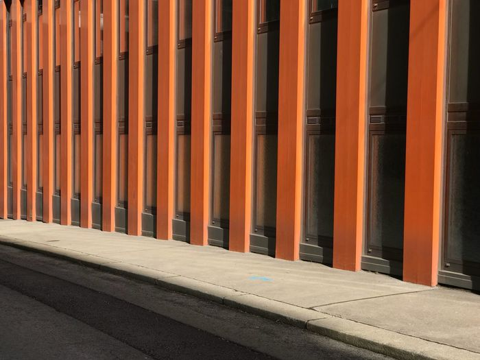 Cityscape Sidewalk EyeEm Selects Orange Color No People Day Outdoors Backgrounds Full Frame