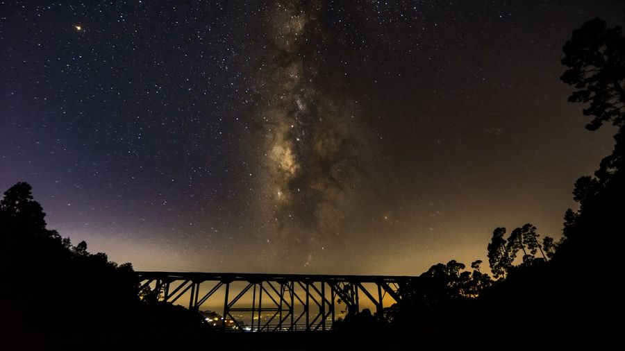 a bridge to remember Milky Way Milky Way Nightphotography Nightphotography Nightlife Night Photography Sky Sunset #sun #clouds #skylovers #sky #nature #beautifulinnature #naturalbeauty #photography #landscape Skyscraper Bridge - Man Made Structure Bridge Eye4photography  EyeEm Selects Nature Heaven ASIA Uttarakhand Photography Nikon Astronomy Galaxy Tree Star - Space Milky Way Silhouette Bridge - Man Made Structure Awe Sky Landscape Star Field EyeEmNewHere