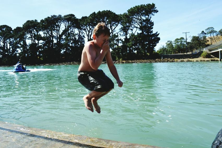 Photography In Motion Enjoying Life Summer Time  River Collection Splash Man And Nature Flying In The Sky Jumping Shot Mid-air