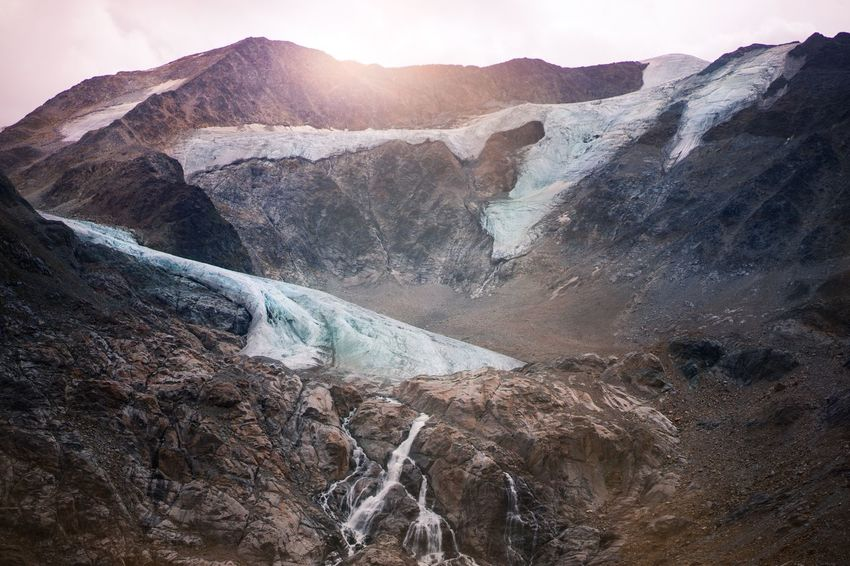 Taschach Verner Glacier in summer Spring Melting Climate Change Melting Ice Summer Glacier Verner Taschach Haus Taschachferner Nature Mountain Geology Landscape Beauty In Nature Outdoors No People Sky Day Hot Spring