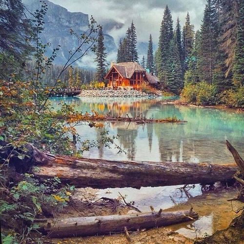 Emerald lake , canada 💙💙 beautiful 💙💙Good Morning guys Emerald Lake,canada Canada Beautiful You Follow My Eye Em 💙 I Follow Back Very Nice 😱😱 First Eyeem Photo Hello World ❤ No Edit