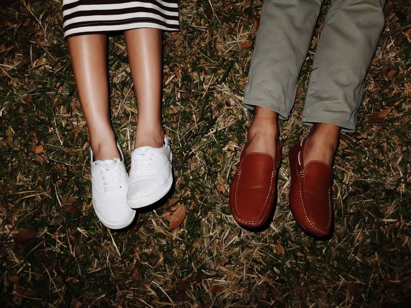 Feet love Two People Low Section Human Body Part Human Leg Standing People High Angle View Adult Shoe Togetherness Adults Only Couple - Relationship Day Friendship Close-up Young Women Indoors  Young Adult Outdoors Feetselfie Feet Feet On The Ground Feet Love